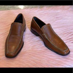 Donald J. Pliner Men's Brown Leather Slip-On 9.5M